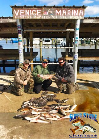 The Martin Crew went out on an inshore trip with Capt. Alan Balladares and Capt. Stephen Crews on February 1st and came back with some gorgeous red fish and sheepshead!  If you're interested in booking a trip with us, give us a call at (985) 640-0772 or visit our website www.superstrikecharters.com!