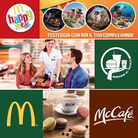 🎉 Feste di compleanno  🍔 Servizio al tavolo ☕ McCafè