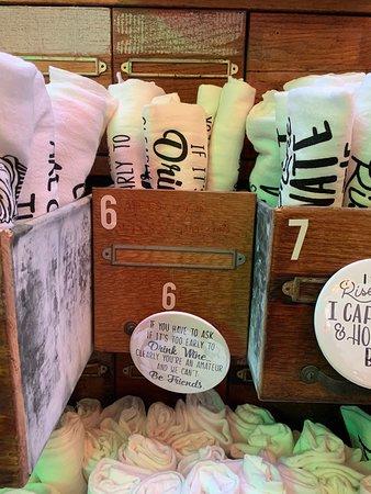 Coburg, OR: Gifts at FARMfancy. Mugs & tea towels!