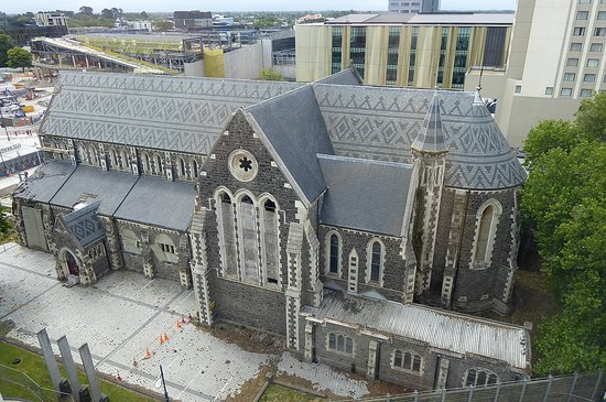 The Christchurch Cathedral is located right beside the hotel