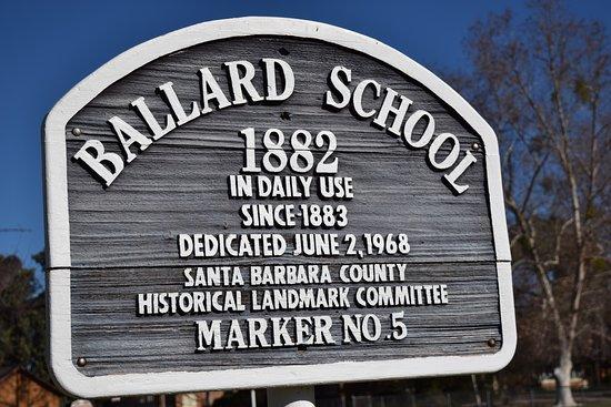 Historical Landmark sign for the Ballard School