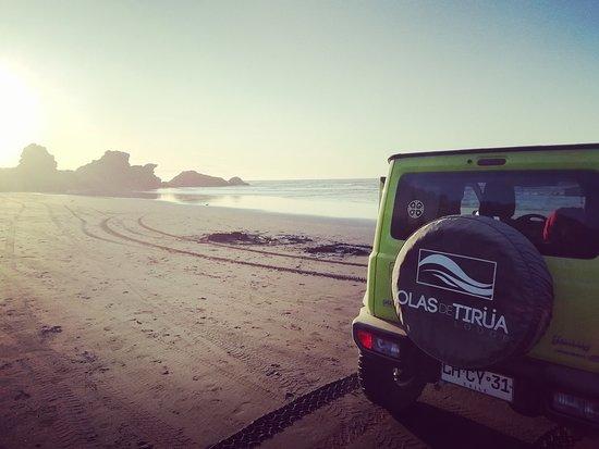 Olas de Tirüa: A tan solo 200 metros se encuentra la Playa Puntilla de Tirúa