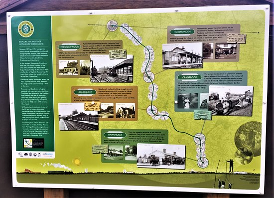 4.  The Hop Pickers Line;  Information board at Goudhurst