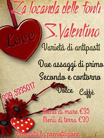 Castel Sant'Angelo, Italië: 14 Febbraio S. Valentino alla Locanda delle fonti!
