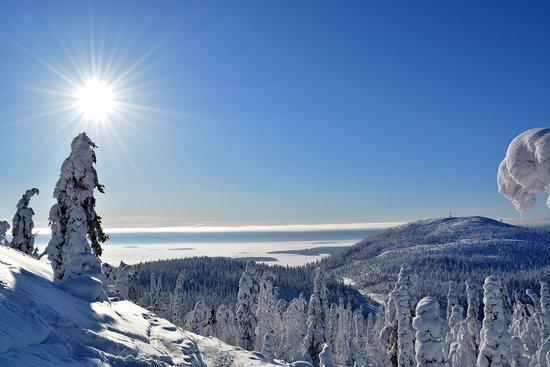 Kandalaksha, รัสเซีย: Вид на горы и море!