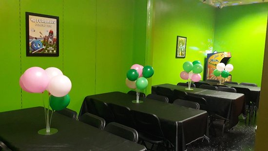 Book our party room for as low as $50 (without game time)