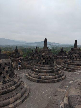 the stupas all around