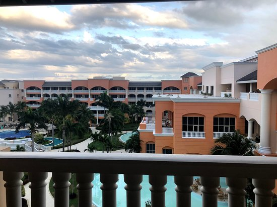 View to the pools area and the other wing of the Suites hotel