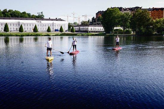 Paddla SUP hos Surfbussen Stockholm