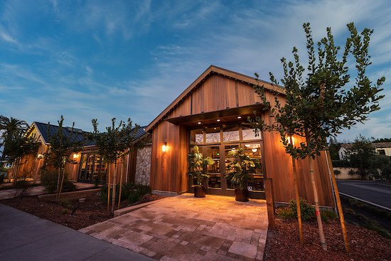 Handwritten Wines new SOYO House at 6494 Washington Street in Yountville, CA! As part of its ongoing sustainability initiatives, Handwritten Wines new SOYO House is clad with reclaimed redwood sourced from vintage wine vats!