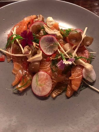 Kensington, Australia: House-cured Salmon yum