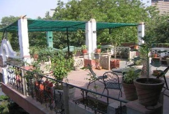 A large Rooftop Terrace overlooking the Garden and Jantar Mantar,where guests can sit, sunbathe and relax. We can also host Birthday Parties or for small gatherings with advance notice.