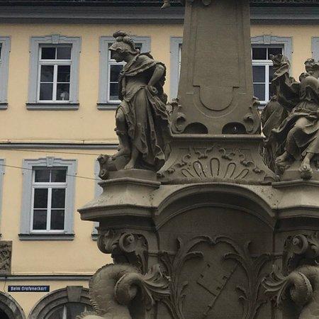 Fountainhead with the four cardinal virtues