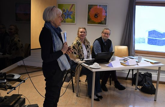Regional samling for venneforeninger med bl.a Marit Herrem som har vært mangeårig leder av Trøndelag Folkemuseums Venner. Flott møterom.