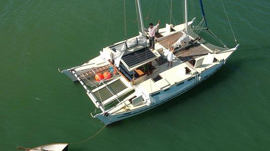 Porto Belo, SC: Catamaran Amelia visto de cima