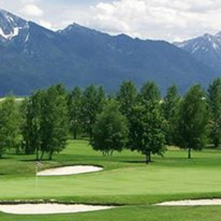 Ronan, MT : Hole #8 with Mission Mountains in the background.