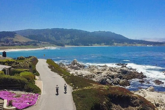 Tour guidato in ebike di 3 ore della costiera Carmel e Pebble Beach