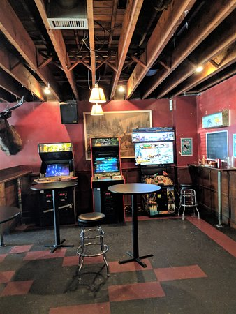 The games corner at Linda's Tavern.