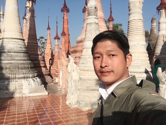 Sightseeings at amazing and very ancient Indein Pagoda, Inlay lake, Nyaung Shwe, Southern Shan State, Myanmar