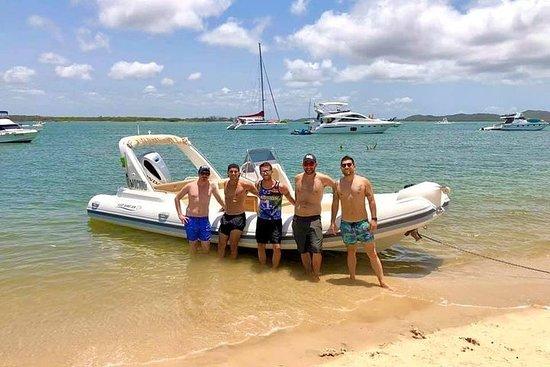 Bootavontuur met kleine groepen op StradBroke Island