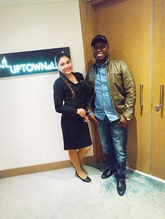 Ms Rovielyn at UpTown, Jumeirah Beach Hotel. The best hostess in Dubai.