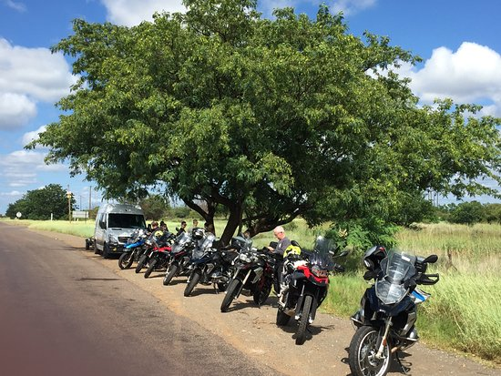Roadside coffee stop outside Pretoria