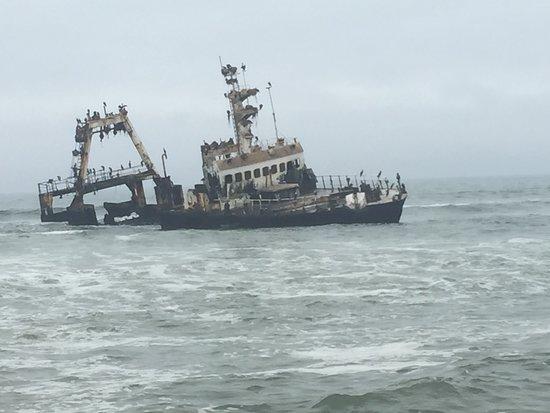Hentiesbaai, นามิเบีย: the Wreck!