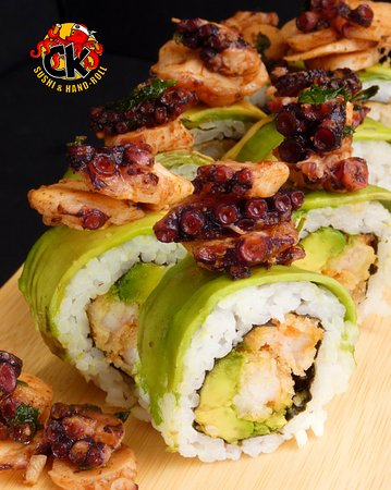 Sushi al pulpo