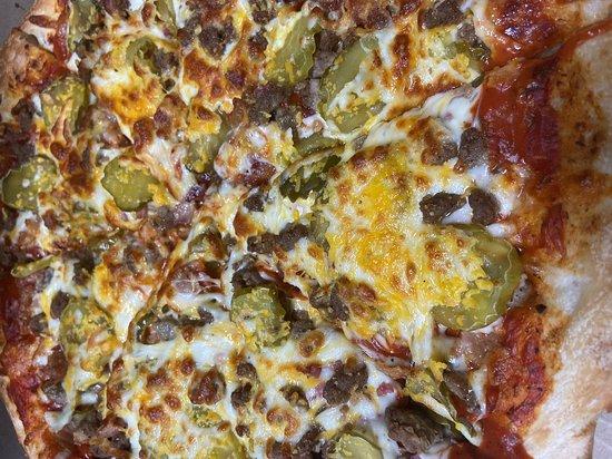New Salem, ND: Bacon Cheeseburger Pizza