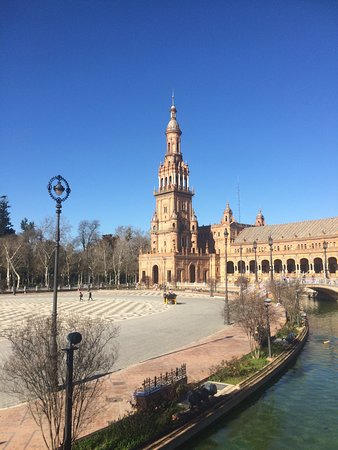 Seville, Spain: North tower and canal