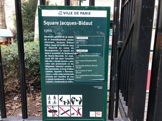 ‪Square Jacques-Bidaut‬