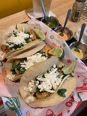 Shrimp tacos!  SO GOOD!
