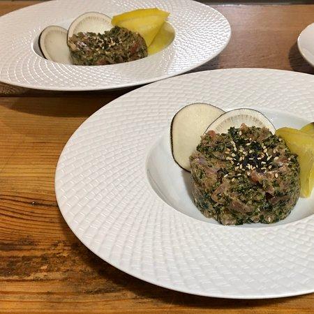 Tartare de thon aux algues wakame