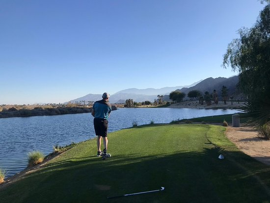SilverRock Resort: 210 tee to green with nothing but water