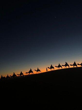 3 Days Desert Tour From Marrakech To Merzouga Dunes & Camel Trek: Riding to camp for the night in the desert
