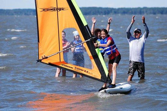 Lezione di windsurf sulla baia di Rehoboth