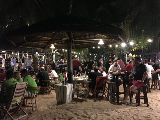 La Gi, Vietnam: but everybody is chilling and talking at the beach area