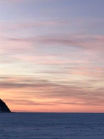 Mont-Saint-Pierre, Canada: Vue de la 132 au Mont St pierre