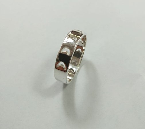 moon phase silver ring - Lovers Workshop