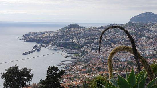 Madeira - 4 Hour tour as passenger, our driver (1 to 2 people - price per Trike): Blick auf Funchal und das Kreuzfahrtschiff