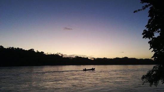 Boca Sabalos, Nikaragua: River at sunset
