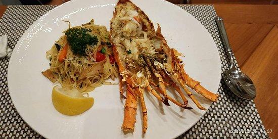 Grilled Lobster .