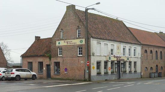 Eecke, Francúzsko: c'est la Brasserie vue d'extérieur