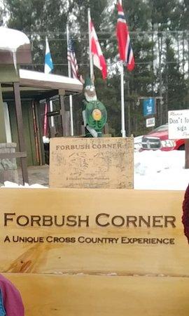 Frederic, MI: Forbush Corner check in, store and warming house.