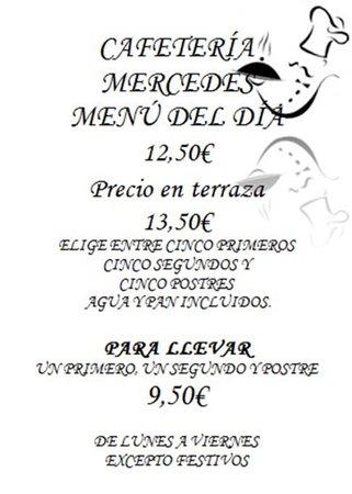 Menú del día por 12,50€