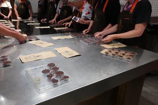 Chaqchao Chocolate Making Workshop: The finished product in the Chocolate making workshop at Chaochao Chocolates, Arequipa.