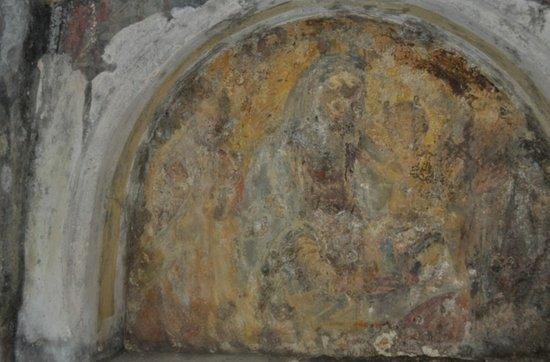 San Basilio, Italia: affresco nella Chiesa