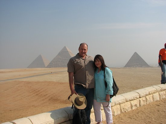 Panoramic view of the Pyramids