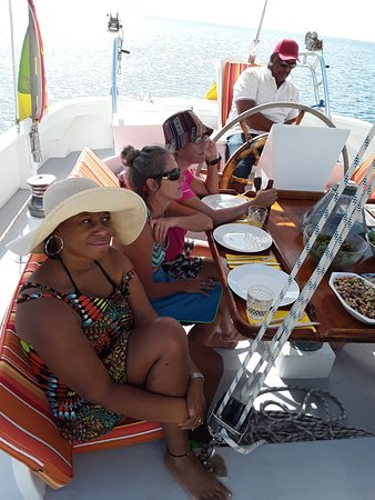 Sail a Traditional 73ft Schooner in the Caribbean Sea: Happy travelers.