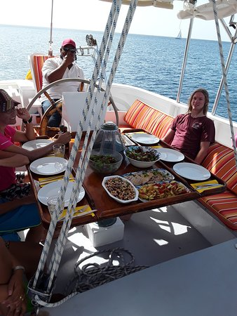 Sail a Traditional 73ft Schooner in the Caribbean Sea: Let's eat!
